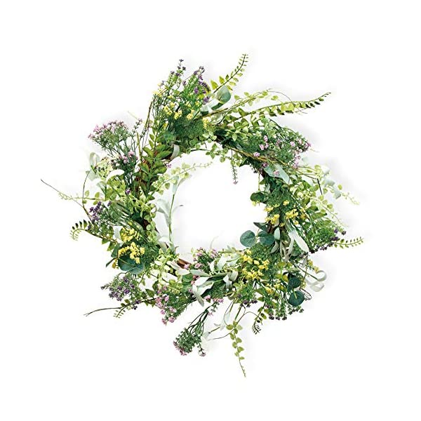 Boston International Spring & Summer Decorative Wreath, 20-Inches, Field Flowers
