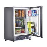 Appliances Refrigerators Rv Best Deals - SMAD 3-Way Absorption Fridge RV Truck Refrigerator,AC/DC/LPG,55 Qt,Black