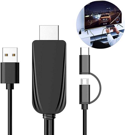 lesgos Micro USB a HDMI, Adaptador de Cable convertidor HD 1080P ...