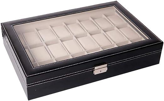 24 Caja De Relojes Grande Cajas para Relojes con Valet,Hombre ...