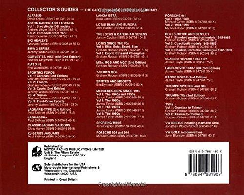 Porsche 911 and Derivatives: 1963-1980 v. 1: A Collectors Guide: Amazon.es: Michael Cotton: Libros en idiomas extranjeros