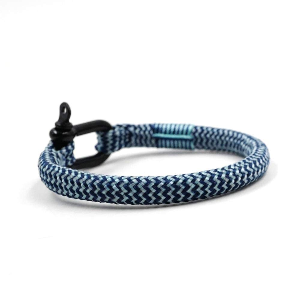 TTHER Nautical Rope - Unisex Nautical Braided Bracelet Hand-Made Yachting Rope Military Paracord Bracelet Wristband W/D-Shackle BRT-N517 by TTHER