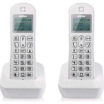 Brondi Mariot Twin Teléfono inalámbrico Agenda ID llamadas ...