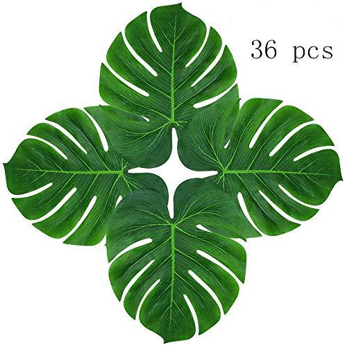 Jungle Prom Theme (Hecaty 36 pcs Palm Leaves Plant Imitation Leaf, 13