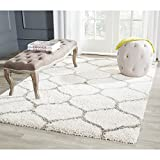Safavieh Hudson Shag Collection SGH280A Ivory and Grey Area Rug, 5 feet 1 inches by 7 feet 6 inches (5'1 x 7'6) by Safavieh