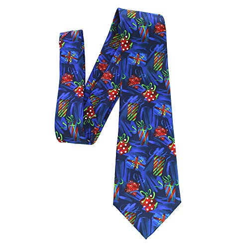 BOXMO Mens Big Boys Fun Merry Christmas Ties Innovative design Printed Patterned Necktie (Christmas 2)