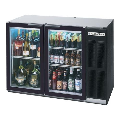 "Beverage-Air BB48GY-1-B 48"" Black Undercounter Back Bar Refrigerator with Swingi"