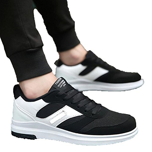 Men's Fashion Mesh Low Ankle Lace-up Trim Flat Ankle Casual Sport Shoes Sapatas das Senhoras,3,9.5