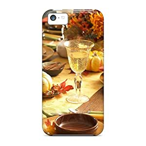 New Snap-on DaMMeke Skin Case Cover Compatible With Iphone 5c- Autumn Table