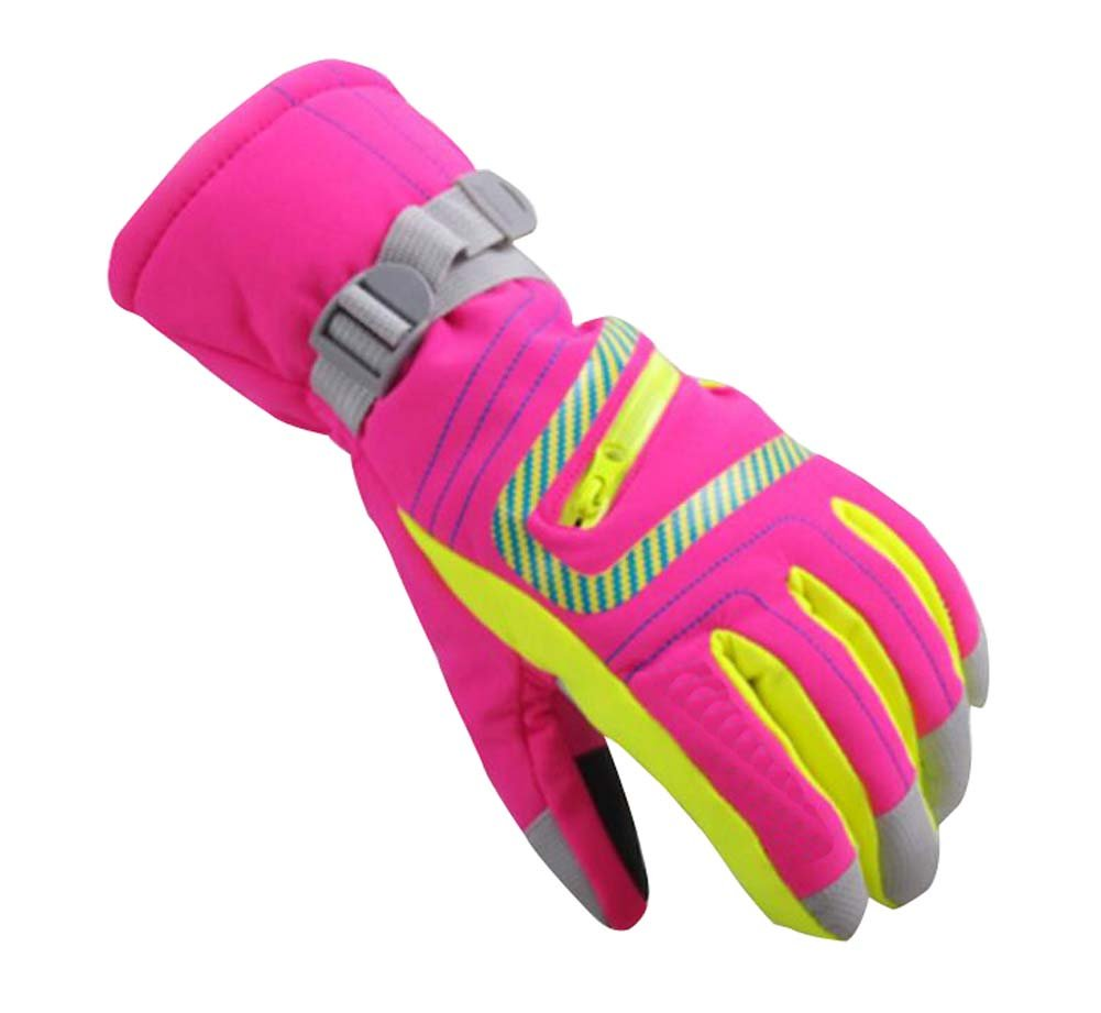 9-14 Years Old Children Outdoor Gloves Waterproof Windproof Gloves, Pink Dragon Sonic
