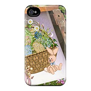 New Arrival Cover Case With Nice Design For Iphone 4/4s- Easter Basket Garden