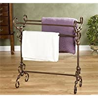 Pemberly Row Blanket Rack in Antique Bronze