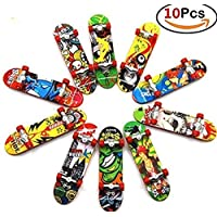 ANAB GI 10 PCS Finger Skateboard Mini Fingerboards with Non-Slip Pad assorted design play with finger