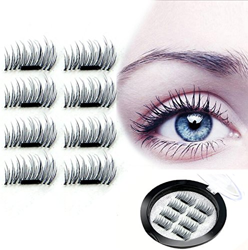 f3e4b9f2b8e Magnet Eyelashes-Dual Magnetic False Eyelashes with NO GLUE 3D Fiber  Reusable Best Fake Lashes