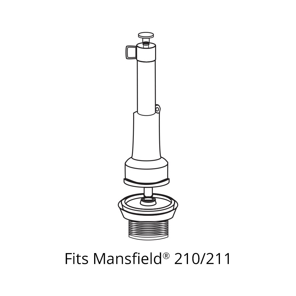 Korky 427BP Flush Valve Seal For Mansfield 210 and 211 Toilet Repairs