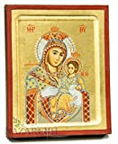 Jerusalem Virgin Mary With Jesus Christ Byzantine Wood Icon Christian