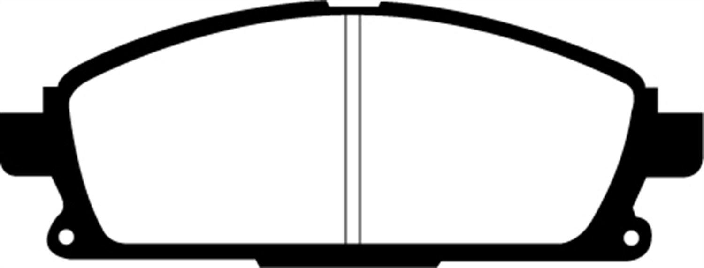 EBC Brakes DP71247 7000 Series Greenstuff SUV Supreme Compound Brake Pad