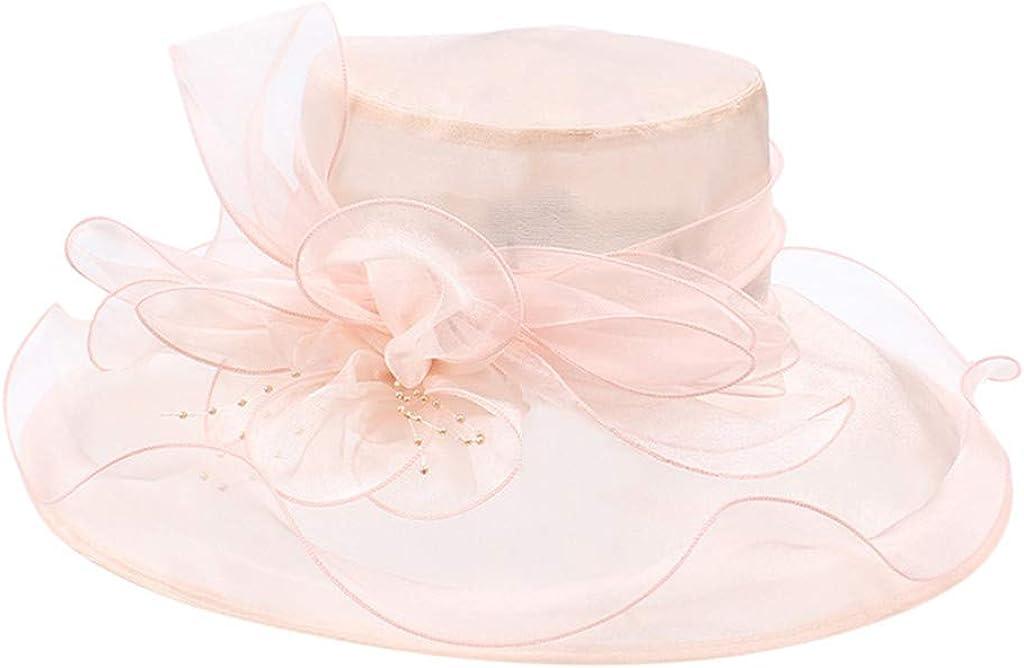hositor Kentucky Derby Hats for Women, Ladies Organza Church Kentucky Derby Fascinator Bridal Tea Party Wedding Hat