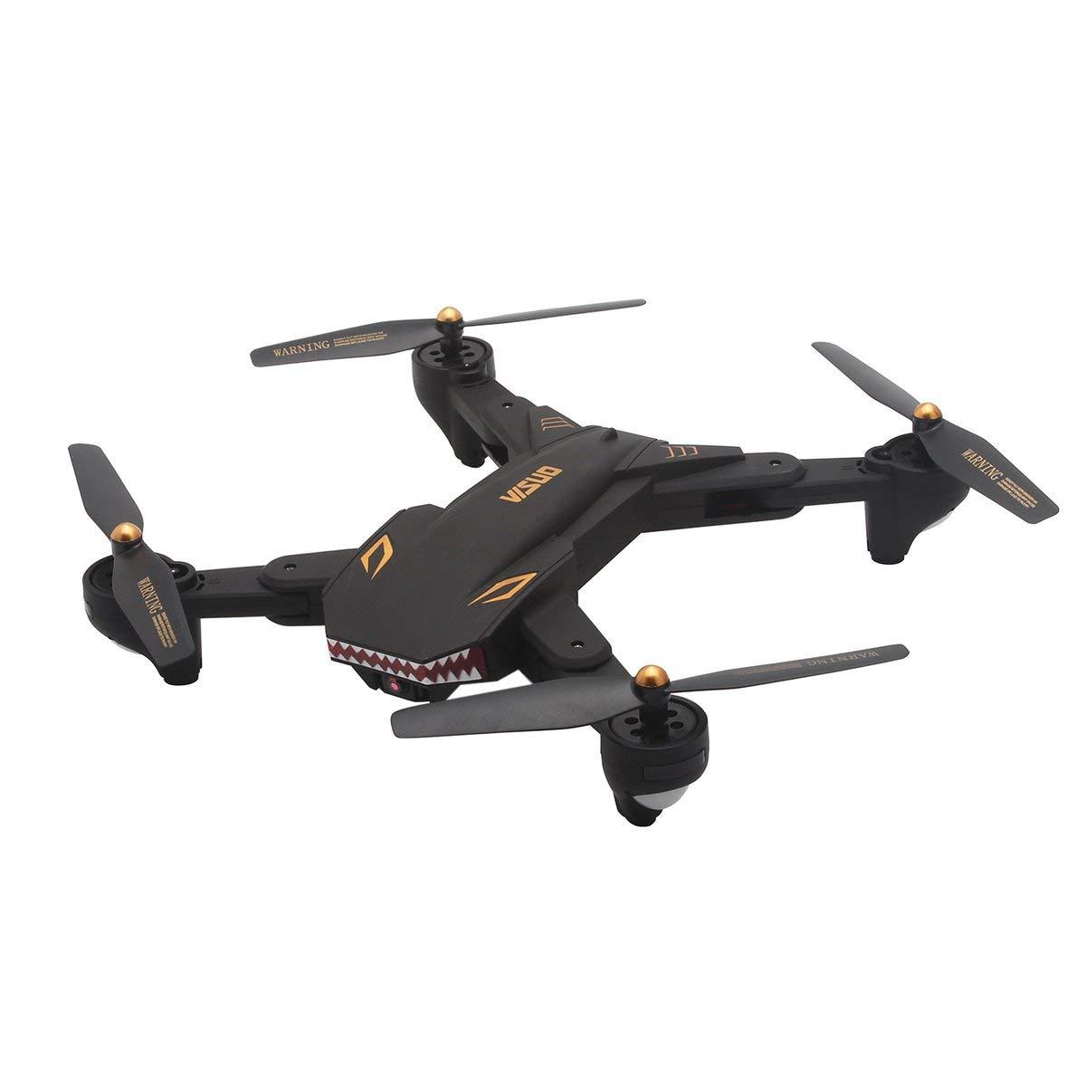 Gugutogo Drohne Mit Kamera XS809S RC Drohne mit 0.3MP WiFi Kamera Faltbare Höhe Halten G-Sensor Drohne (3 Batterien)