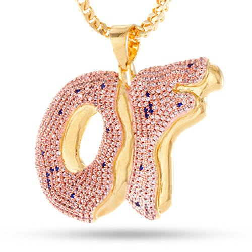Odd Future x KING ICE 14K Gold Plated OF Pendant by King Ice
