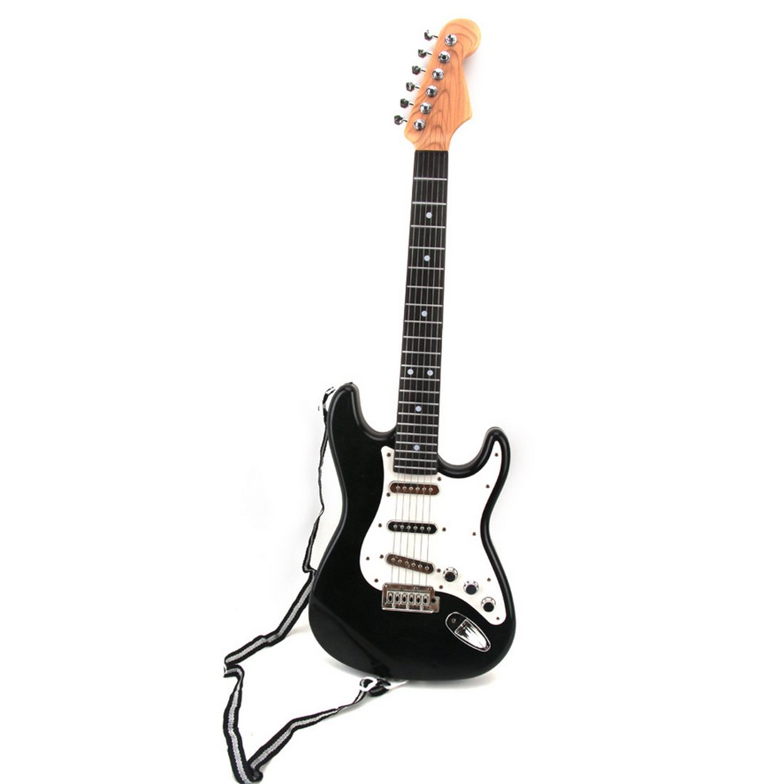 WOLFBUSH Kids Toy Guitar, 6 Strings Electric Cool Music Guitar 26 Inch Musical Instruments - Black
