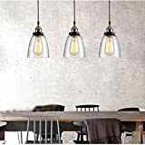 Qm-h Morden Vintage Edison LED Wrought Glass Retro Ceiling Lighting Lamp Shade with Bulb