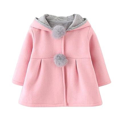 a9ae4dee7 Amazon.com: decwang Baby Girl's Toddler Mini Kids Fall Winter Coat Jacket  Outerwear with Big Rabbit Ears Hoodie Girls Ear Cotton Warm Outwear  Sweatshirt: ...