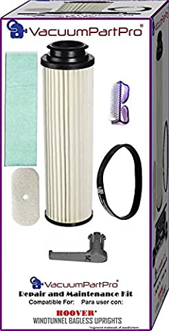 Hoover WindTunnel Bagless Upright Repair and Maintenance Kit By Vacuum Part Pro - Bagless Upright Round Hepa Filter