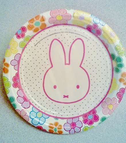 Miffy / Nijntje Bunny Rabbit Birthday Party 7 Dessert Plates ~ 12 Count by Momentum Brands