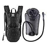 Cheap Barbarians Tactical Hydration Pack Water Backpack with 3L Bladder, Lightweight Military Molle Backpack Black