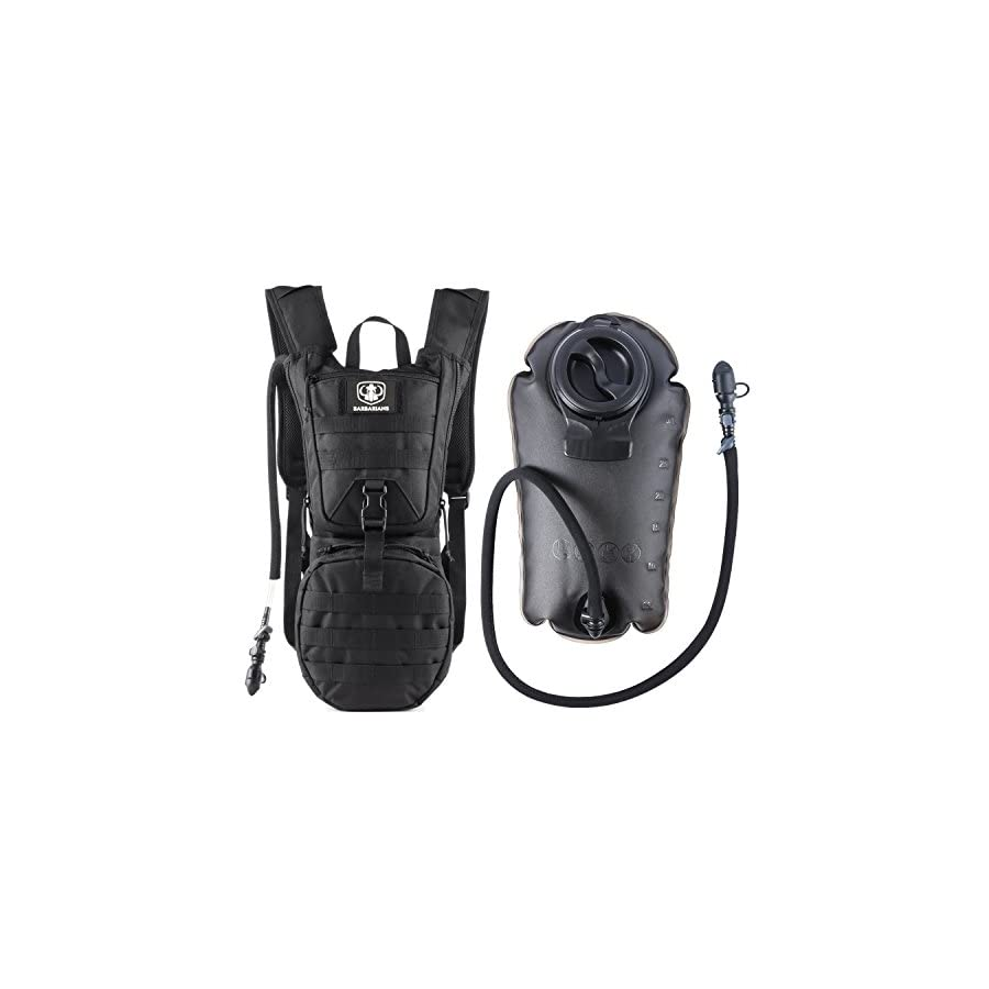 Barbarians Tactical Hydration Pack Water Backpack with 3L Bladder, Lightweight Military Molle Backpack