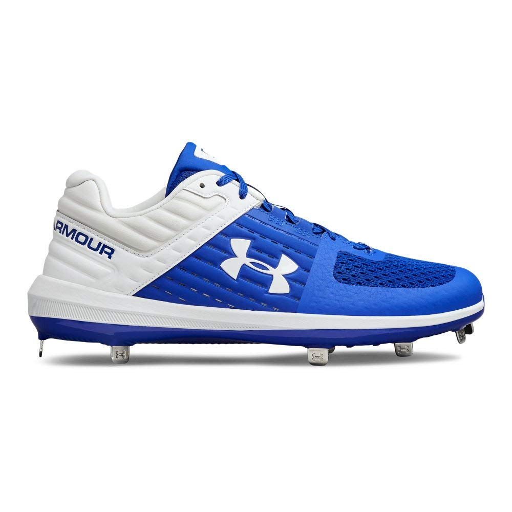 Under Armour Men's Yard Low ST Baseball Shoe, Royal (401)/White, 11 by Under Armour