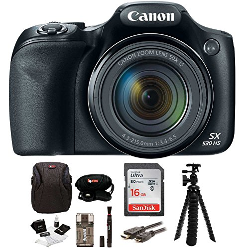 Canon Powershot SX530 HS Camera with 16GB Deluxe Accessory K