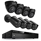 Amcrest Eco-Series 1080P HD Over Analog (HDCVI) Video Security System, 66ft IR LED Night Vision, Long Distance Transmit Range, Pre-Installed 1TB HD