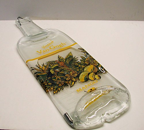 Vincent Van Gogh Mango Flavored Vodka Bottle Slumped Flat for Cutting Board Cheese Tray