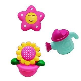 Gazechimp 3pcs Jouets de Bain Petites Jouet d'Eveil pour Bébé Jeux Tournesol Arrosoir Squirter Cadeau Bébé