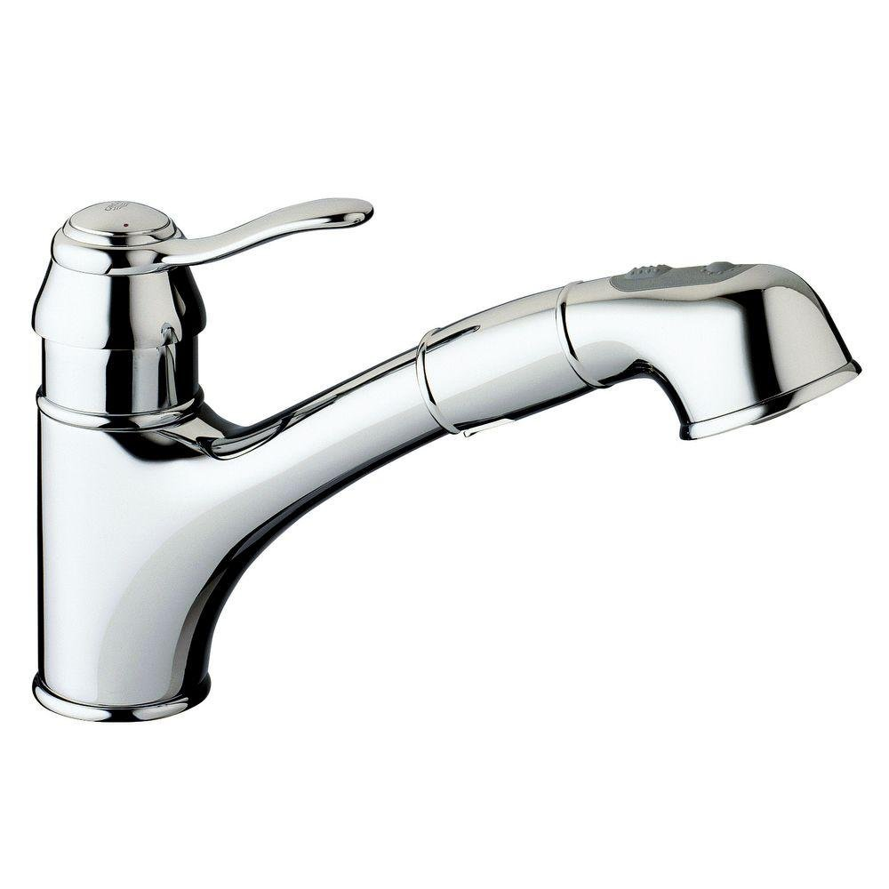 Delightful Grohe 32 459 ENE Ashford WaterCare Dual Spray Pull Out Kitchen Faucet,  Brushed Nickel   Touch On Kitchen Sink Faucets   Amazon.com