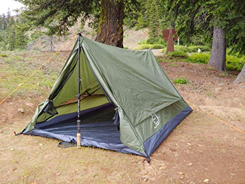 - River Country Products Trekker Tent 2.2, Two Person Trekking Pole Backpacking Tent - Green