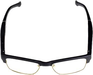 Joick Men Women Bluetooth Wireless Smart Glasses Unisex Stereo Music Headphones Sunglasses,Anti-Blue,Black Gold