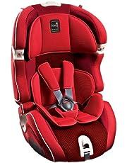 Kiwy SLF123 Q-Fix, Silla de coche con Isofix para grupo 1/2/3, Rojo (Cherry)