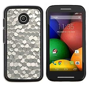 LECELL--Funda protectora / Cubierta / Piel For Motorola Moto E -- Polígono 3D Arte Diseño de Moda --