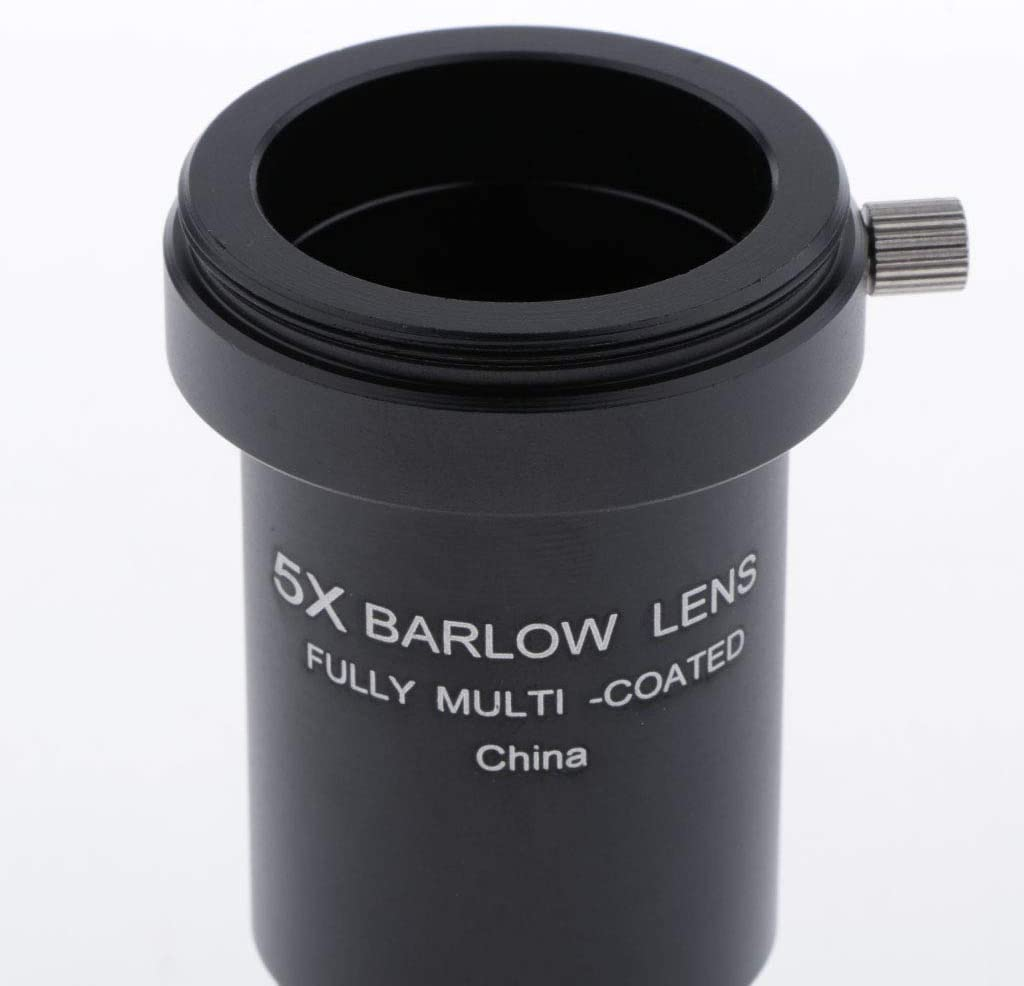 1.25inch Telescope Barlow Lens 3X Eyepiece Universal Fully Multi-Coated Optical Glass Metal with M42 Thread Moon Planet Deep Sky