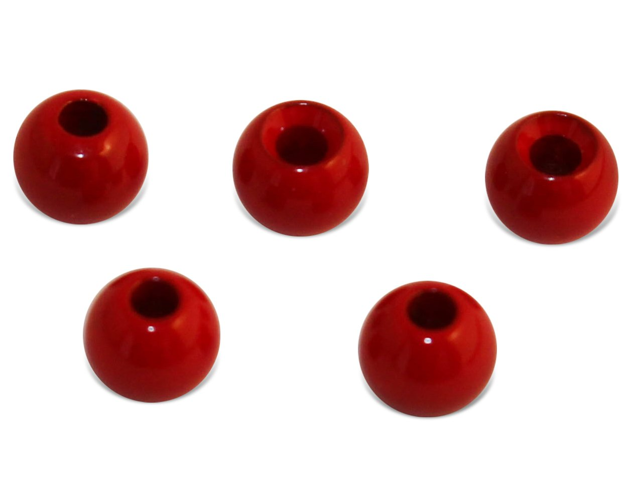 Prime Fish Co. Brass Fly Tying Bead Heads 100 Count (2.0mm, Blood Red)