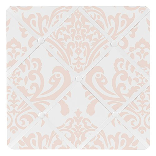 Sweet Jojo Designs Blush Pink Damask Fabric Memory/Memo Photo Bulletin Board for Amelia Collection - Make Photo Board