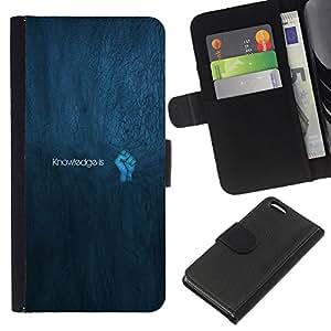 JackGot ( Konwledge Is Power ) Apple Iphone 5C la tarjeta de Crédito Slots PU Funda de cuero Monedero caso cubierta de piel