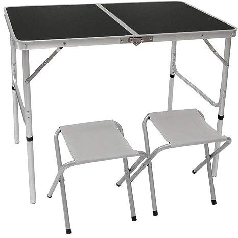 Tavolo Da Campeggio Richiudibile.Amanka Tavolino Da Pic Nic Incl 2 Sgabelli Tavolo Da Campeggio