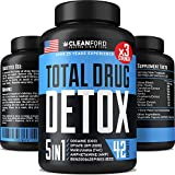 Total Drug Detox - Natural Quick Cleanse - Made in USA- 5-in-1 Drug Toxins Remover - 7 Days Only Liver Detox, Urinary Tract & Kidney Cleanse - Milk Thistle, Beet Root & Cranberry Extract
