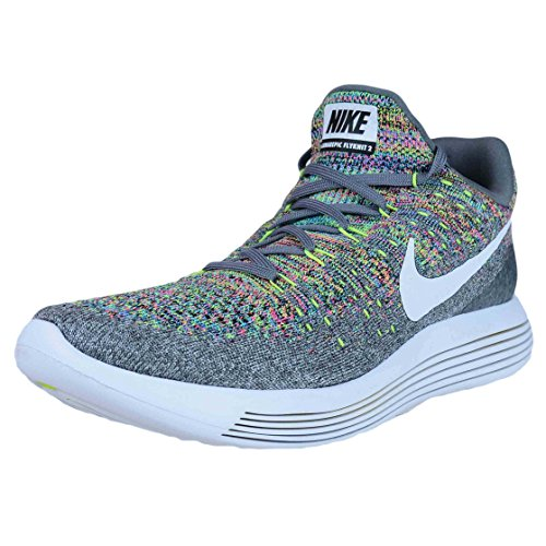 Running Grey Low Mens Flyknit White volt Shoes NIKE Cool Glow blue 2 Lunarepic af16qX