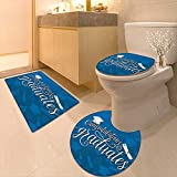Printsonne Toilet Cushion Suit College Celebration Ceremony Certificate Diploma Square Academic Cap Blue and White in Bathroom Accessories
