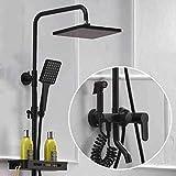 Junson Shower System, Shower Set Multi-Function Bathroom Rainforest Shower Water Shower Head Hand Shower rain Automatic Watering Wall Shower